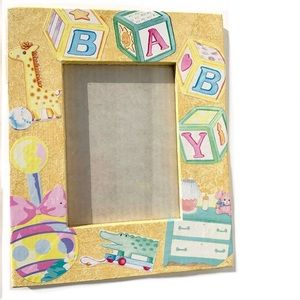 Yellow Baby Picture Frame For The Nursery